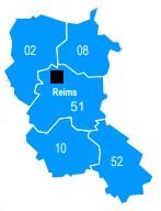 Carte - Reims
